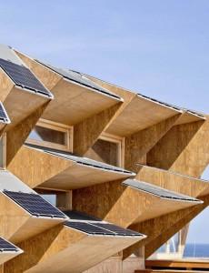 Endesa Pavillion med solceller, Barcelona